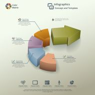 Arrow Pie Chart Infographic Background Concept