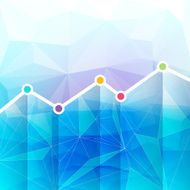 Abstract graph chart timeline background