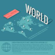 World map business vector background concept illustration design