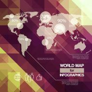World Map Elements of Infographics