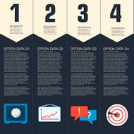 Business flat infographic template with text fields N8