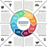 Vector circle arrows for business infographic N3