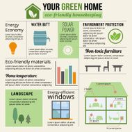 Eco-friendly home infographic N2