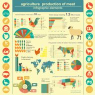 Agriculture animal husbandry infographics