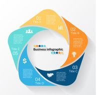 Vector circle business infographic