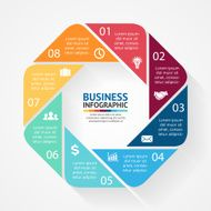 Business circle infographic diagram with options N3