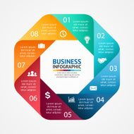 Business circle infographic diagram with options N4