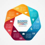 Business circle infographic diagram with options N5