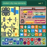 Modern city map elements for generating your own infographics N4