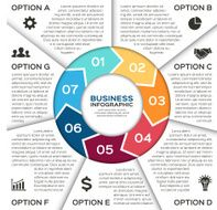 Vector circle arrows for business infographic N4