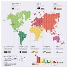 Dot Continent Of The World Map Infographic N2