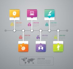 Infographic design template and marketing icons N22