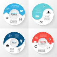 Vector circle arrows infographic Template for cycle diagram graph presentation