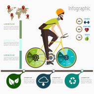 Infographic bicycle concept