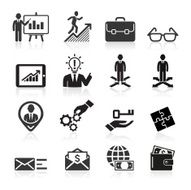 Business management and human resources icons N4