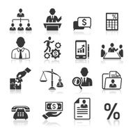 Business management and human resources icons N5
