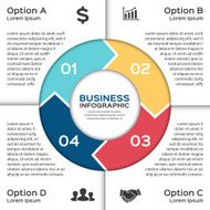 Vector circle arrows for business infographic N5