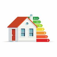 European home energy efficiency illustration