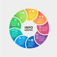 Vector circle infographics Template for diagram graph presentation and chart N4