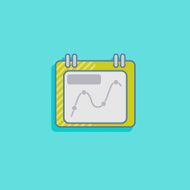 vector chart icon in flat design style infographic sign N2