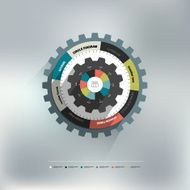 Cog wheel circle diagram for info graphic