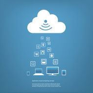 Cloud Computing Concept Vector Illustration N2