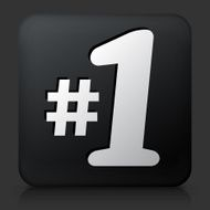 Black Square Button with First Place Icon