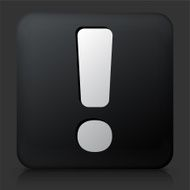 Black Square Button with Exclamation Mark