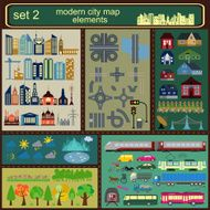 Modern city map elements for generating your own infographics N5