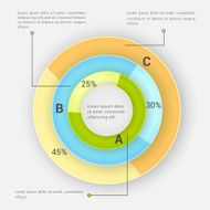 Infographic circle for business
