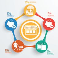 Shopping concept info graphic design clean vector N2