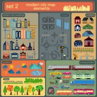 Modern city map elements for generating your own infographics N7