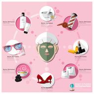 Woman Shopping Beauty And Fashion Lifestyle Infographic N2