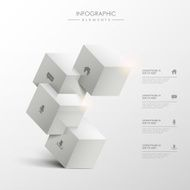 abstract 3d cube infographics N4