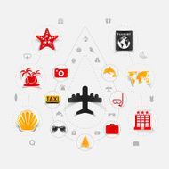 Set of summer tourism icons N300