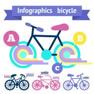 Bicycle infographic elements N2