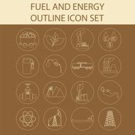 Set 16 fuel and energy icons N3