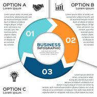 Vector circle arrows for business infographic N6