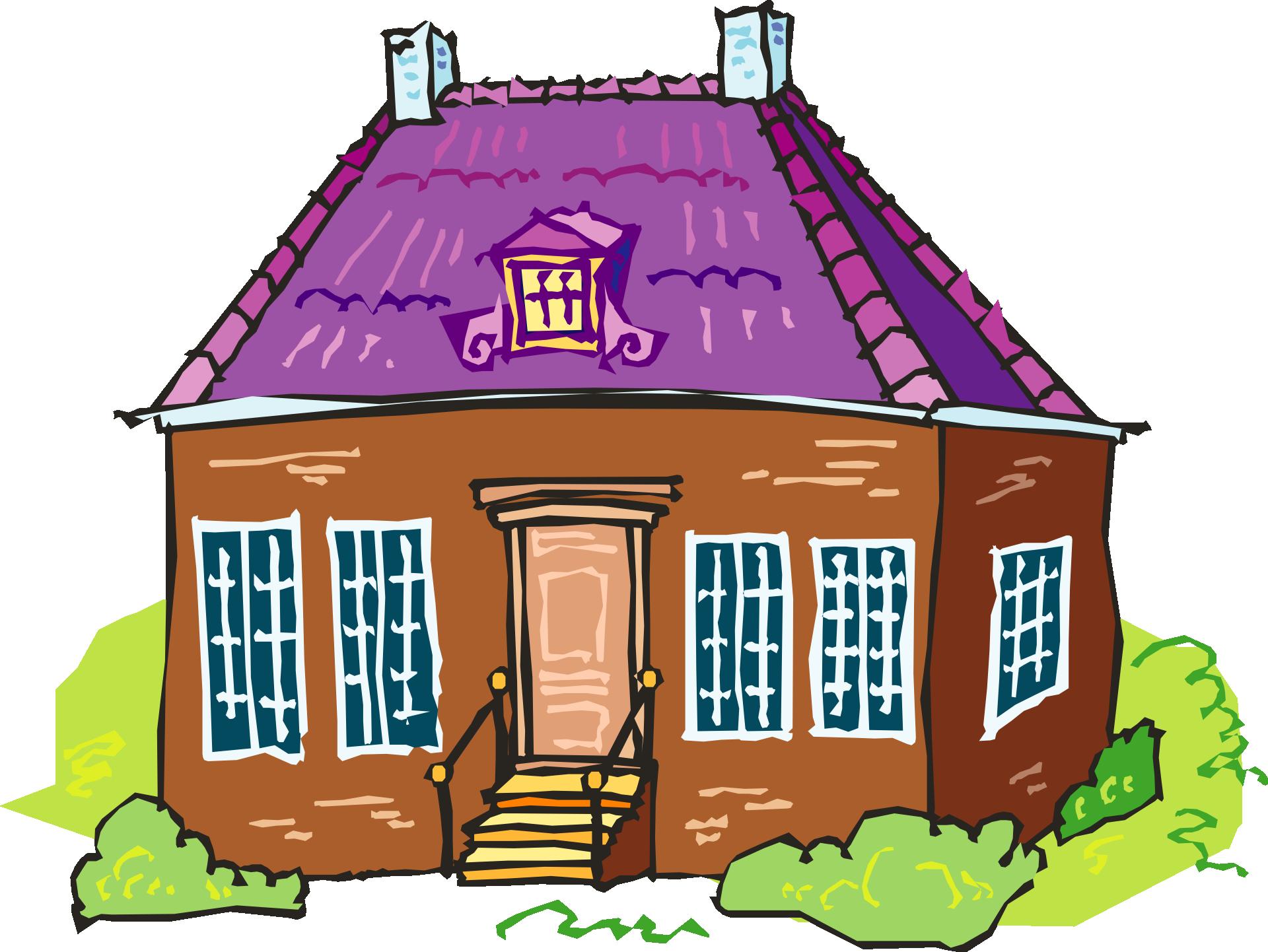 Цветные картинки для детей дом