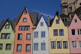 colorful old buildings in cologne