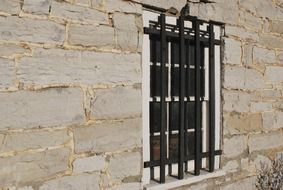iron bars on the window