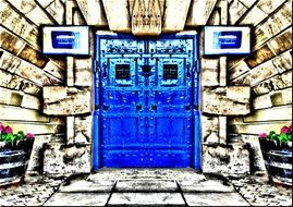Picture of Blue door