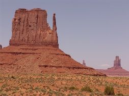 rocks on the background of the sky in Monument Valley