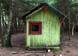 neglected log cabin