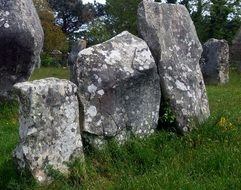 ancient carnac stones in brittany