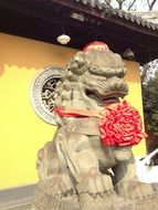 foo dog by the Chnese temple