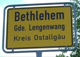 town sign germany