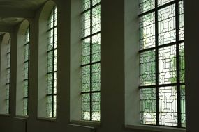 big stained glass windows