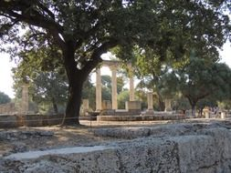 monument in olympia greece