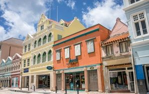 colorful architecture on the Curacao
